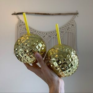 2 Disco Ball party drink to go cups